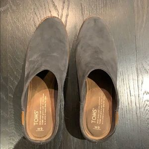 Grey Suede Mules